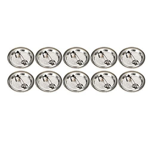Botón de insignia en blanco, 100 piezas Botón de alfiler en blanco Insignia de seguridad redonda Emblema Medalla Suministros de piezas para regalos de artesanía Recuerdos(25MM)