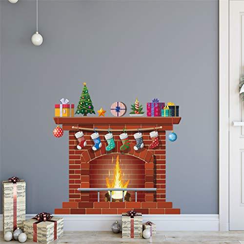 Vinilos Decorativos,Chshe❅,Chimenea De Navidad Collage