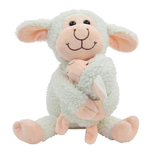 Kögler 75958 - Laber Schaf mit Baby Bonnie und Fina, Labertier mit Aufnahme- und Wiedergabefunktion, plappert alles witzig nach, ca. 23 cm groß, ideal als Geschenk für Jungen und Mädchen