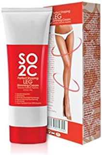 Anti Cellulite Remover Cream by SO2C | All-Natural Anti-Cellulite & Skin Firming, Tightening, Toning, Slimming & Thermogenic Cream | Tightening and Slimming for Legs, Thighs, Hip & Buttocks | Set of 1