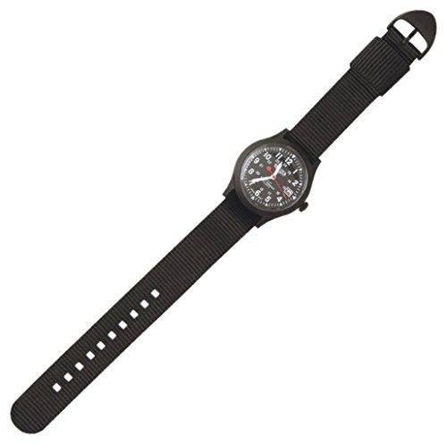 Dakota, orologio casual da ragazzo al quarzo, in plastica e nylon, colore: nero (modello: 77669)