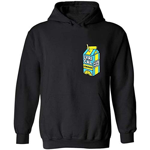 Lyrical Lemonade Fashion Hoodie Adult Pullover Hooded Sweate Sweatshirt For Men Women (Black,L)