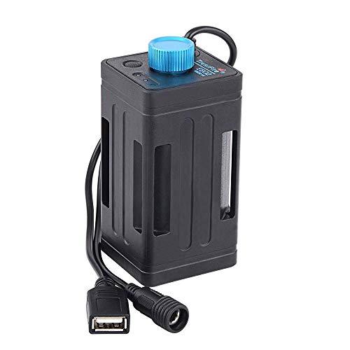 TrustFire EB02 8.4V Fahrrad Akku Aufbewahrungsbox Mobile Power Bank Akkupack Box Batterie Halter wasserdicht für 4 X 18650 Li-Ion-Akkus mit DC/USB-Schnittstelle für Fahrradlichter Fahrradlampe