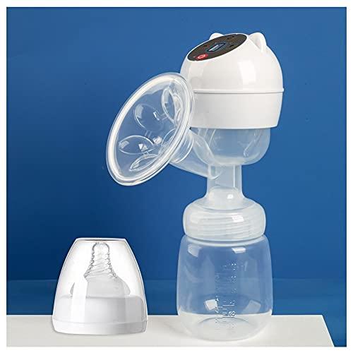 Sacaleches Eléctrico Bomba de leche eléctrica portátil, lactancia materna de leche de lactancia materna de doble uso de la batería recargable USB de la batería recargable con un masaje ajustable succi