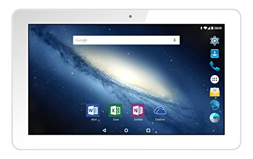 Odys Space 10 plus 3G 25,7cm (10,1 Zoll) Tablet-PC (Intel Atom X3, 1GB RAM, 16GB HDD, Mali-450MP4, 3G Funktion, Android 5.1) weiß