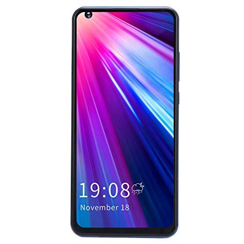 Teléfono Android, M11 Pro 6.82in Pantalla Desbloqueo de huellas dactilares Teléfono 2GB + 16GB Tarjeta dual Teléfono móvil con doble modo de espera con 2500mAh Batería para Android 6.0(blanco)
