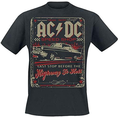AC/DC Highway to Hell - Speed Shop Männer T-Shirt schwarz XL 100{5a80e7104d3b862045671001ad1580d91c6d1263330e1db69f1c5c3b9661fdc0} Baumwolle Band-Merch, Bands