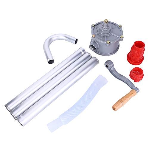 LANTRO JS - Bomba de aceite manual, bomba de aceite de manivela manual de aleación de aluminio, bomba de tambor de barril, herramienta de combustible diésel de gasolina
