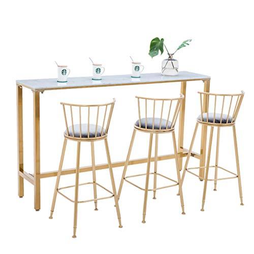 Set di 3 sgabelli da bar, sedie da bar in stile industriale, sedie laterali per cucina sala da pranzo, sedile rotondo rivestito in velluto grigio, altezza seduta 75 cm (senza tavolo)