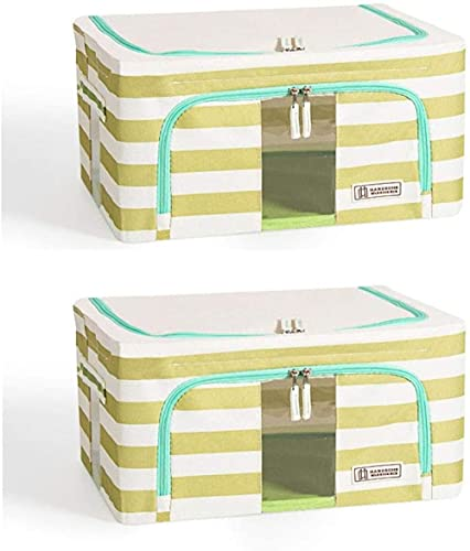 Bolsa de almacenamiento de ropa grande, 2 unidades de 24 L plegables, bolsas de almacenamiento para edredones mantas con asas y ventana (color : Bb)-Dd