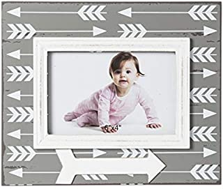 b. Boutique Z7BF001 Arrow Wooden 4x6 Photo Frame Multi-Colored