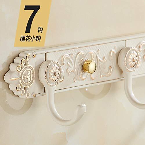 WANDOM gouden witte Europese stijl kleerhangers kleerhangers kleerhangers kapstok achter kleerhaken wandgarderobe badkamerwand creatief A5146