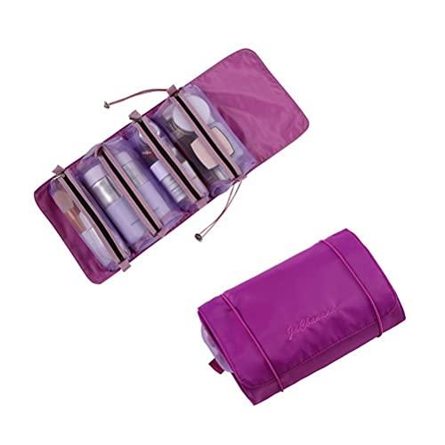 Auplew 4 en 1 Maquillaje Caja del Filtro de Bolsa de Maquillaje Bolsa de cosméticos portátil Plegable Chica cosmética Gran Capacidad de Almacenamiento Caja de tocador para Las Mujeres y Las niñas