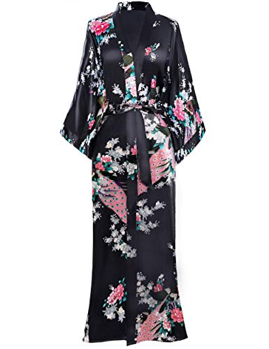 Long Floral Kimono Robe