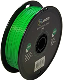 1.75mm Green PLA 3D Printer Filament - 1kg Spool (2.2 lbs) - Dimensional Accuracy +/- 0.03mm