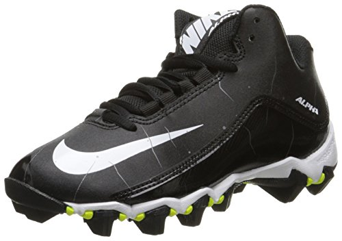 Nike Men's Alpha Shark 2 Three-Quarter Football Cleat Black/Anthracite/White Size 9.5 M US