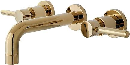 Kingston Brass KS8122DL صنبور حمام للتركيب على الحائط، نحاس مصقول