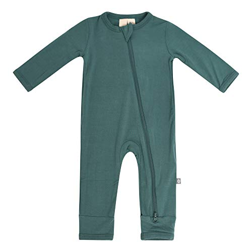 KYTE BABY Soft Bamboo Rayon Rompers, Zipper Closure, 0-24 Months (12-18 Months, Emerald)