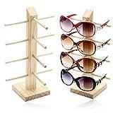 Soporte De Exhibición de Los Vidrios Gafas De Sol Creativas De Madera con...