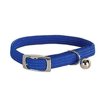 Polytrans Collier Nylon élastique Bleu pour Chat