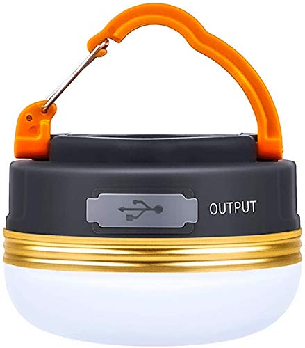 LED Camping Lantern, Rechargeable & Portable Tent Light, 300LM,3 Light Modes,1800mAh Power Bank,with Magnet Base,Electric Lantern Flashlight for Camping/Hiking/Fishing/Hurricane/Emergency