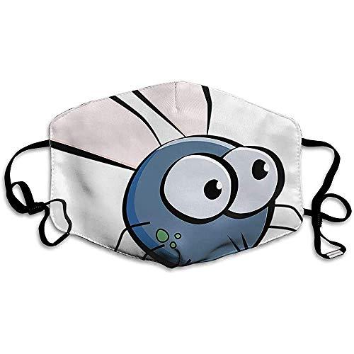 Staub Insekt Flügel Augen Cartoon gedruckt Waschbare Liebe Familie Wiederverwendbare Waschbare Gesichtsschutzhülle für den persönlichen Schutz