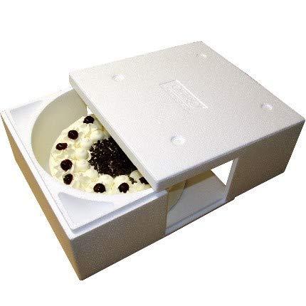 1 Isolierbehälter Styropor weiß zum Transport von Kuchen und Torten