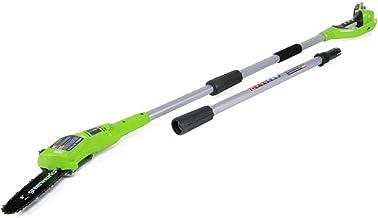 Greenworks accu heggenschaar G24PS20 (Li-Ion 24V 20cm zwaard lengte 6,7m/s kettingsnelheid 280cm aluminium staaf 3-delig z...