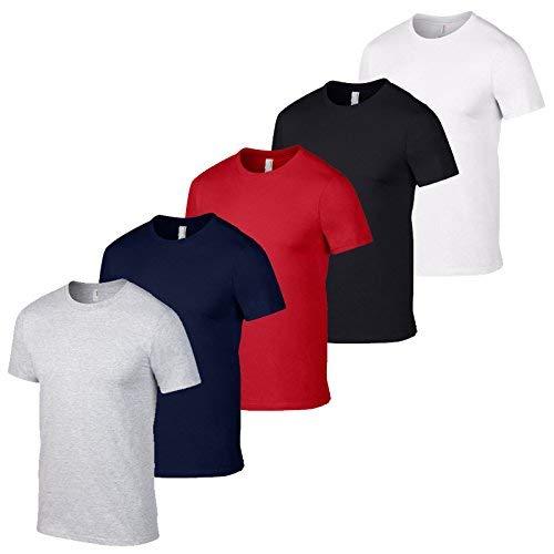 Ropa al por mayor Reino Unido 5 Pack Gildan Camisetas para hombre Camiseta y tamaños