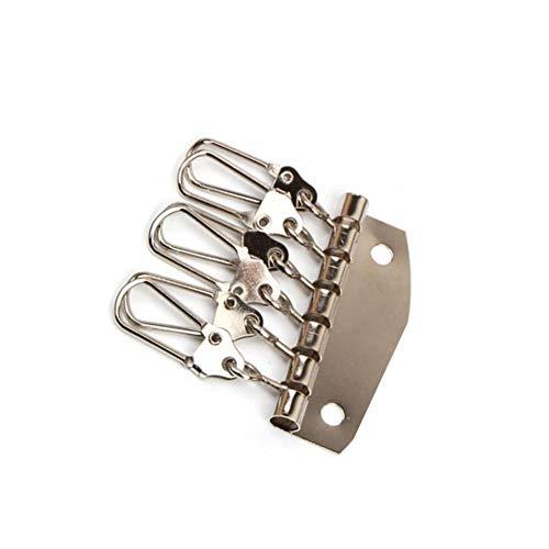 Ellepigy 6 clips de metal con anillo desmontable/gancho de disparador para llavero/mosquetón langosta garra llavero artesanía DIY llaves colgantes herramientas, plata