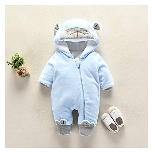 GuanRen 2020 Vellón recién Nacido bebé Lindo Animal Mono Invierno Muchacho niña algodón recién Nacido niño Ropa niño Zapatos cálidos de una Pieza (Color : Baby Blue, Size : 3M)