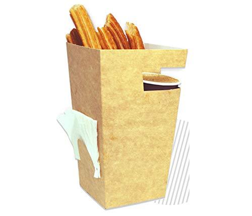 Cajeando   Pack (500) Vasos de Cartón para Churros   Tamaño 78...