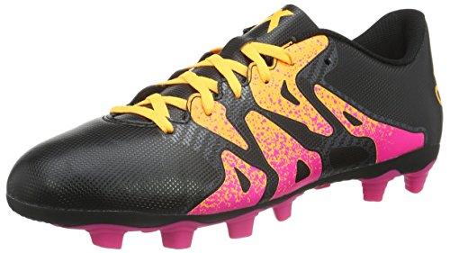 adidas Herren X 15.4 FxG Fußballschuhe, Schwarz (Core Black/Shock Pink/Solar Gold), 46 2/3 EU