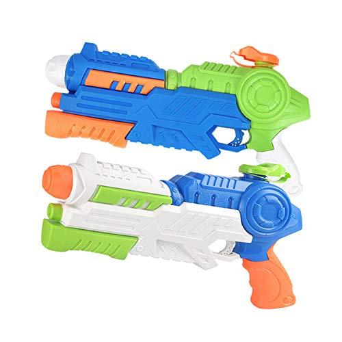 Pistola de Agua para niños y Adultos, Juguete de rociador de Ondas de Choque con absorbedor de Agua, Pistola de Gran Capacidad de 1200 ml, Potente Cubo de Agua de Larga Distancia