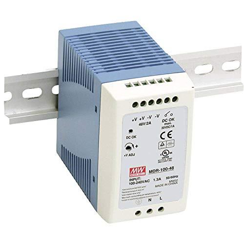 Preisvergleich Produktbild Mean Well mdr-100 24 96 W Power Supply Unit Power Supply Units (96 W,  85 264,  47 63,  86%,  Over Voltage,  Überhitzung,  Overload, -10 60 °C)