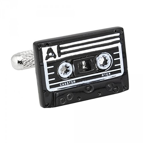 Memyseli Retro Cassette Tape Cufflinks In A Gift And Presentation Box