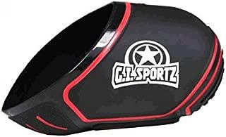GI Sportz Exalt Carbon Fiber Tank Cover-Fits 68ci/70ci/72ci Paintball Tank - Black / Red