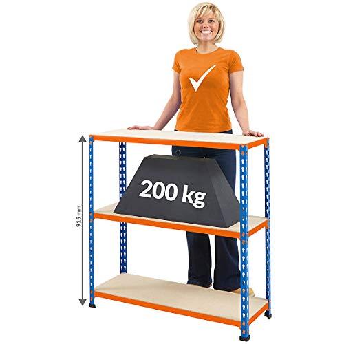 Certeo Schwerlast Werkbank | HxBxT 915 x 915 x 610 mm | 200 kg Traglast pro Ebene | Werktisch Arbeitstisch Stahltisch Steckmontage