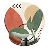 HOPONY Ergonomic Mouse Pad with Wrist Support Gel Mouse Pad with Wrist Rest, Comfortable Computer Mouse Pad for Laptop, Pain Relief Mousepad with Non-Slip Rubber Base, 9 x 10 in,Modern Abstract