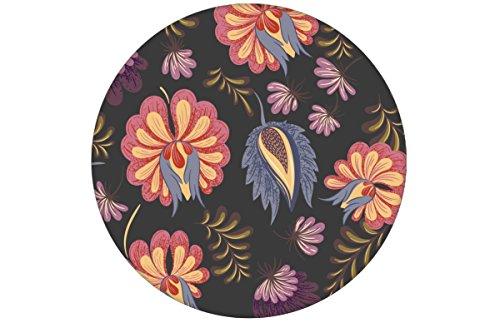 Zeer elegant bloemenbehang met grote roze bloemen op grijs aangepast aan Little Greene muurverf - Vlies behang bloemen verschillende maten - Klassieke wanddeco - GMM design behang - Wandbehang - Wall Decoratie (baanbreedte: 46,5 cm) klassiek • MUSTER (20cm) roze