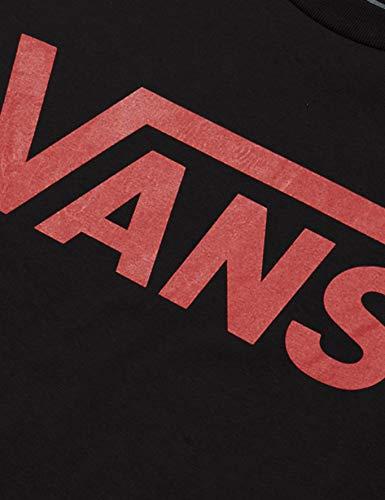 Vans Classic Boys T-Shirt, Pepe Nero-Chili, M Bambino