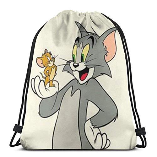 LREFON Tom And Jerry Classic Drawstring Bag Gym Backpack Man Women Sport Storage Shoulder Bag