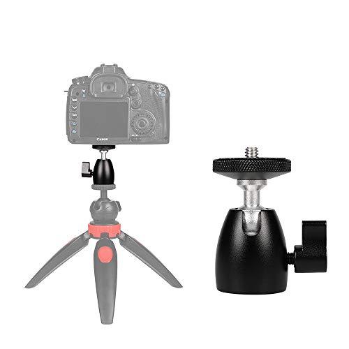 MKOKO Q39 Testa a Sfera panoramica in Metallo con Rotazione a 360 Gradi for DSLR e Fotocamere digitali qualità Senza preoccupazioni (Color : Black)