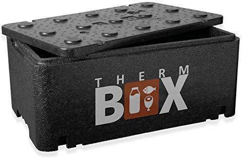 THERM BOX Thermobehälter Mittel 20-Liter Isolierbox Thermobox Warmhaltebox Kühlbox Styroporbox 20BL Innen: 45x25x17cm Wiederverwendbar