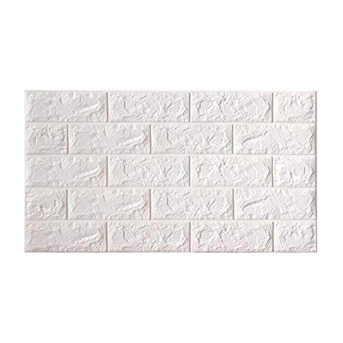KUNYI 3D Wandpaneele for Innenwand-Dekor Brick Wallpaper (Color : White, Size : 10piece)