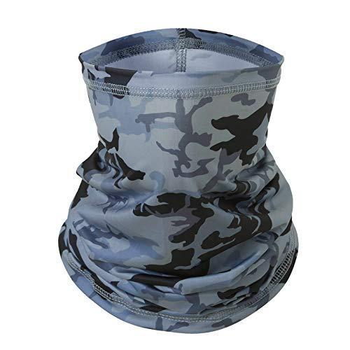 Multifunktionstuch Schlauchschal for Herren&Damen,Cool atmungsaktiv Weich Tuch mundschutz,Sonnenschutz Schlauchschal Halstuch Maske (Tarnen Grau)