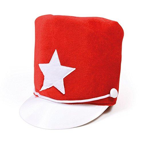 Majorette Hat Red Desfile Baile Animadora Disfraz Cosplay Add-on Fieltro Suave