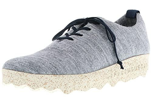 ASPORTUGUESAS Camp P018071005 - Zapatillas bajas para mujer, con cordones, lana de merino, sostenibles, color gris, color Gris, talla 37 EU