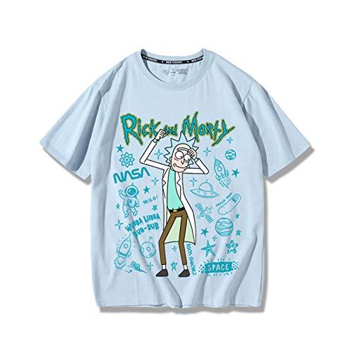 Rick and Morty - Camiseta para hombre, diseño de anime con estampado 3D, manga corta, unisex, ropa de verano (S-XXXXL)