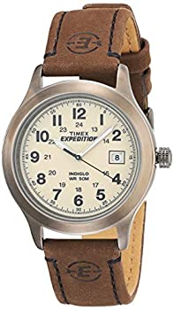 Timex Men s T49870 Expedition Metal Field Brown Leather Strap Watch
